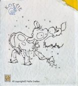 Nellie Snellen - Koetie Clear Stamp - Koetie with Squirrel - COW-006